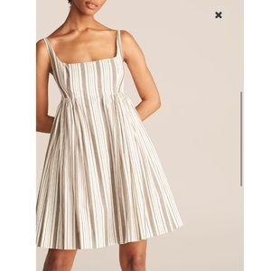 Rebecca Taylor Corded Stripe Empire Waist Dress